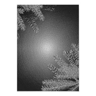 Weihnachtspoinsettia schwarz und Grau I Ankündigungskarte