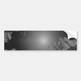 Weihnachtspoinsettia-Schwarzes und Grau Autoaufkleber