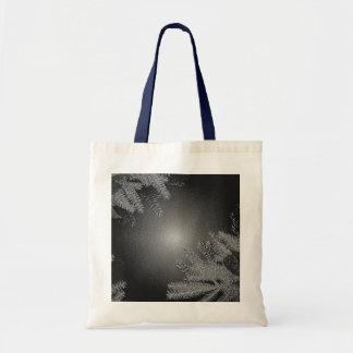Weihnachtspoinsettia-Schwarzes und Grau Tasche