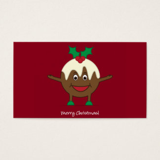 Weihnachtspudding-Cartooncharakter Visitenkarte