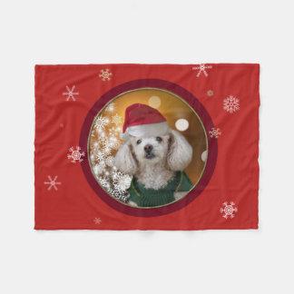 Weihnachtspudel Throw-Fleecedecke Fleecedecke