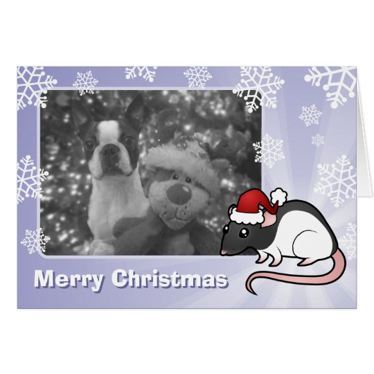 Weihnachtsratte Grußkarte