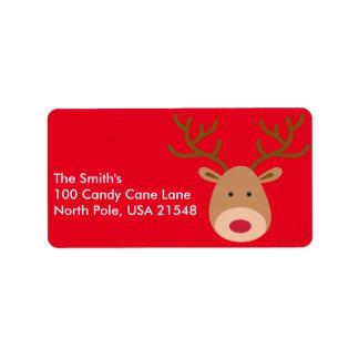 Weihnachtsren-Adressen-Etiketten personifizieren Adressaufkleber