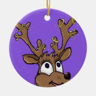 Weihnachtsren-Baum-Dekoration Keramik Ornament