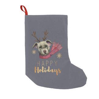 Weihnachtsren-Grube Stier mit Kleiner Weihnachtsstrumpf