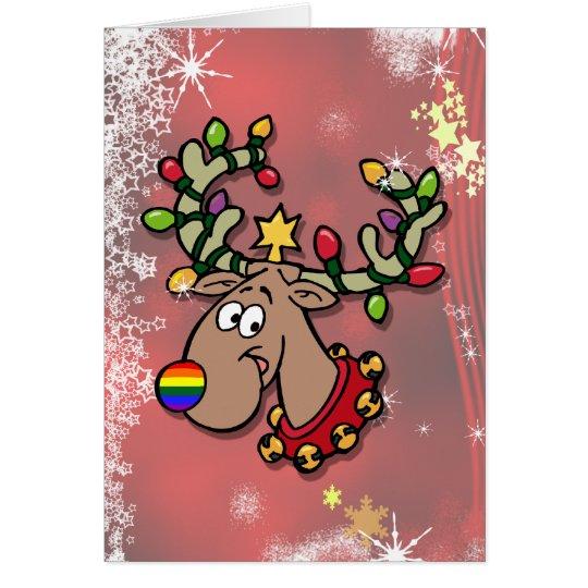 Weihnachtsren Grußkarte