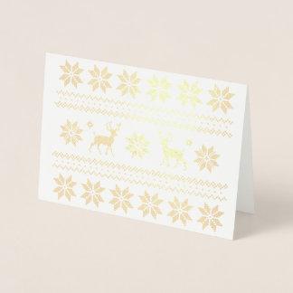 Weihnachtsren-hässlicher Folienkarte