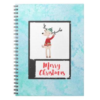 Weihnachtsren in einer hässlichen Strickjacke Spiral Notizblock