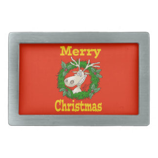 Weihnachtsrenriff Rechteckige Gürtelschnalle