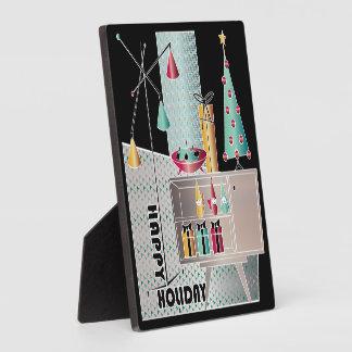 WeihnachtsRetro Baum Fotoplatte