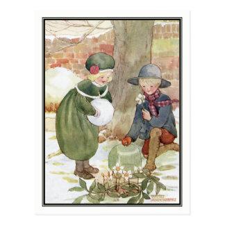 WeihnachtsRosen durch Anne Anderson Postkarte