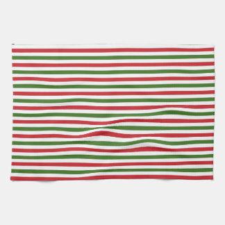 Weihnachtsrote und grüne Tücher