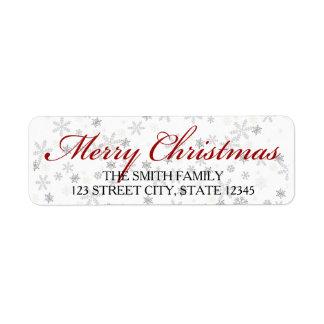 WeihnachtsRücksendeadresseaufkleber