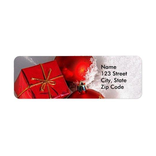WeihnachtsRücksendeadressen-Aufkleber oder Bevorzu Rücksendeetiketten