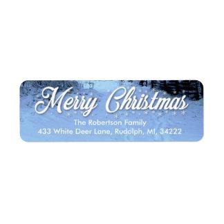 WeihnachtsRücksendeadressen-Aufklebersnowy-Tag
