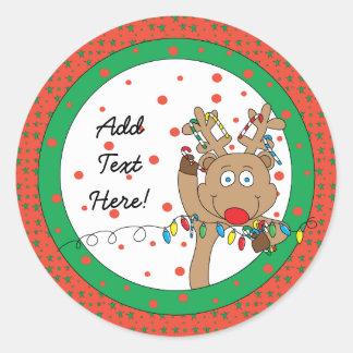 Weihnachtsrunde Aufkleber Rudolph personifizieren