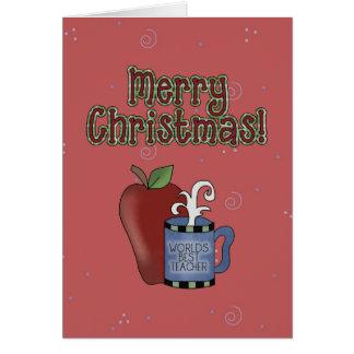 Weihnachtssammlungs-beste Lehrer-Gruß-Karte Karte