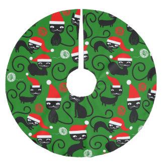 Weihnachtssankt-Katzenweihnachtsbaumrock Polyester Weihnachtsbaumdecke