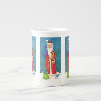 Weihnachtssankt-Tasse Prozellantasse