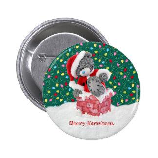 Weihnachtssankt-Teddybär-Knopf Runder Button 5,7 Cm