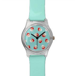 Weihnachtssankt-Türkis-modisches reizendes Uhr