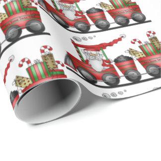 Weihnachtssankt-Zug-Feiertagsverpackung Einpackpapier