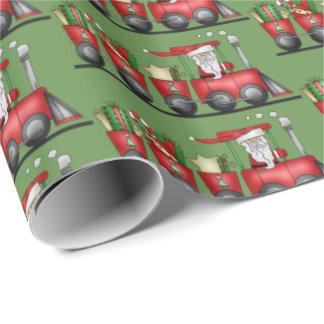 Weihnachtssankt-Zugmuster-Partyverpackung Geschenkpapierrolle