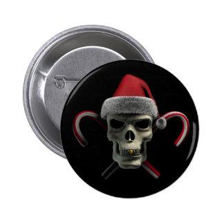 Weihnachtsschädel Runder Button 5,1 Cm