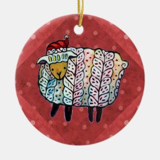 Weihnachtsschaf-Baum-Verzierung Keramik Ornament