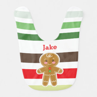 Weihnachtsschellfisch des Lebkuchen-Jungen-| Babylätzchen