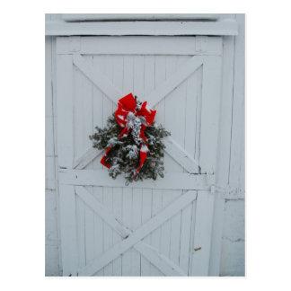 Weihnachtsscheunen-Tür Postkarten