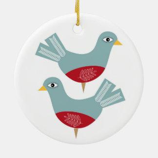 Weihnachtsschildkröte-Taube Keramik Ornament