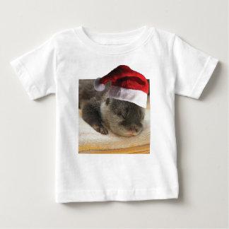 Weihnachtsschläfriger Otter Baby T-shirt
