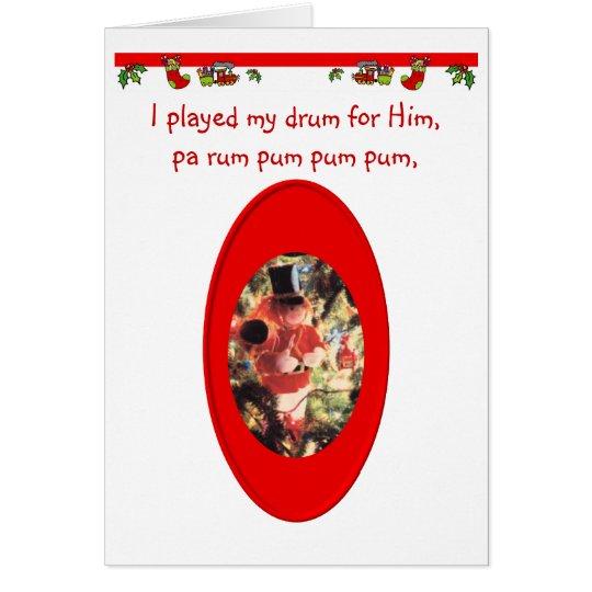 Weihnachtsschlagzeuger-Junge Karte