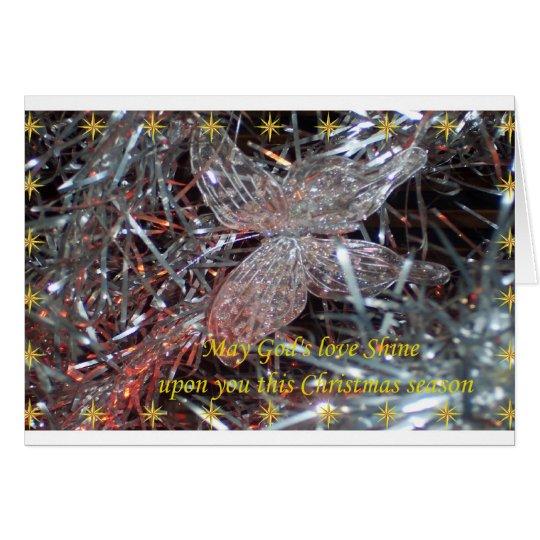 Weihnachtsschmetterling Mitteilungskarte
