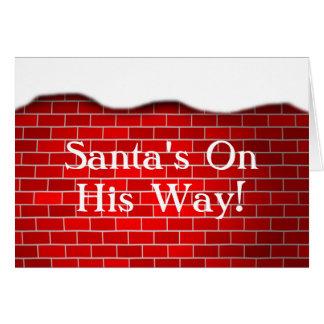 Weihnachtsschnee-Antrieb-Backstein-Hintergrund Karte