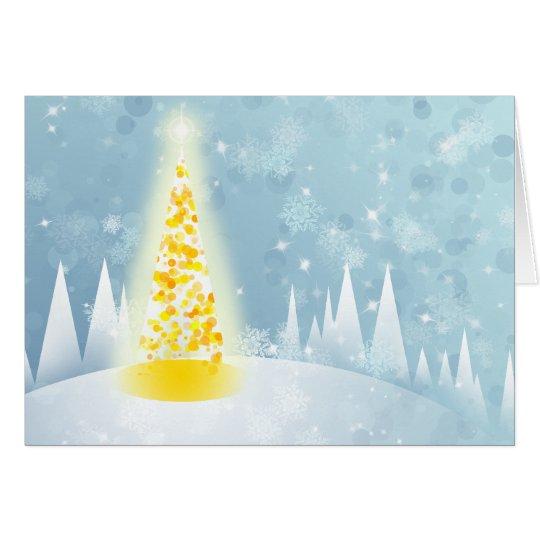 Weihnachtsschnee Grußkarte