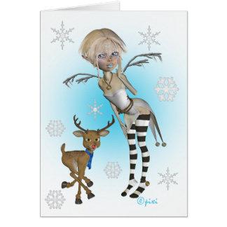 Weihnachtsschnee Pixi Gruß-Karte Grußkarte