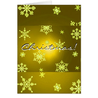 Weihnachtsschneeflocke-Gold auf englisch Grußkarte