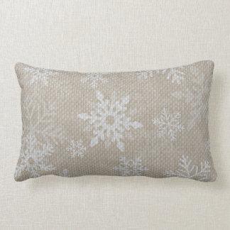 Weihnachtsschneeflocke-Leinwand-Kissen Lendenkissen
