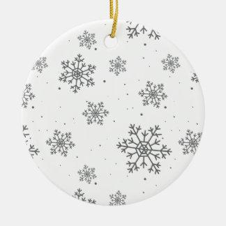 Weihnachtsschneeflockemuster - Weihnachtsgeschenke Keramik Ornament