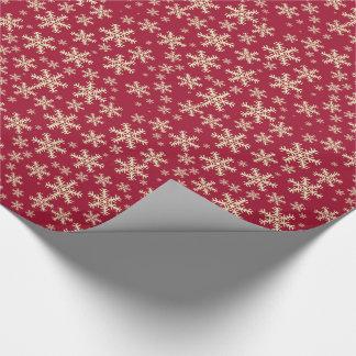 Weihnachtsschneeflocken Geschenkpapier