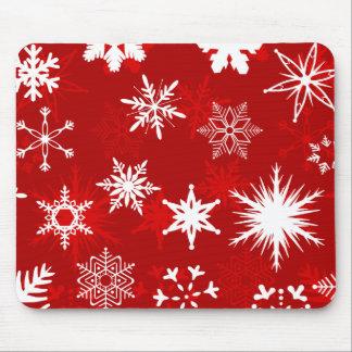 Weihnachtsschneeflocken mousepad