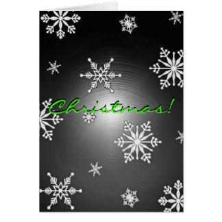 Weihnachtsschneeflocken schwarz und Grau in Grußkarte