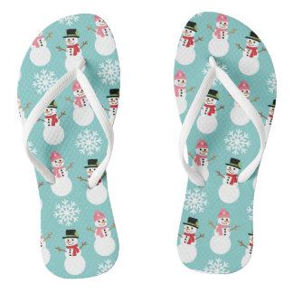 WeihnachtsSchneemänner Flip Flops