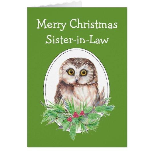 Weihnachtsschwägerin-niedliche Grußkarte