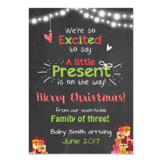 Weihnachtsschwangerschaftsmitteilungs-Kartentafel 12,7 X 17,8 Cm Einladungskarte