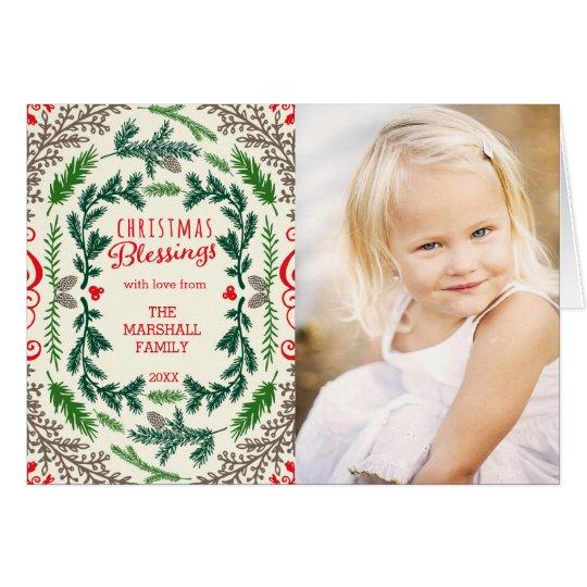 Weihnachtssegen-Foto-Feiertags-Gruß-Karte Grußkarte
