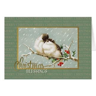 Weihnachtssegensnowbirds-Vintage Wiedergabe Karte