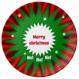 Weihnachtsservierplatte Porzellanteller